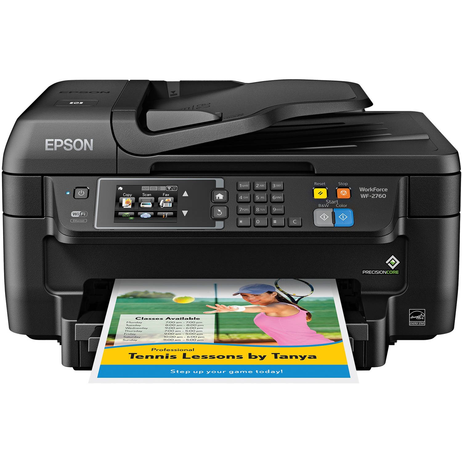 Epson WorkForce WF-2760 All-in-One Wireless Color Printer/Copier/Scanner/Fax Machine