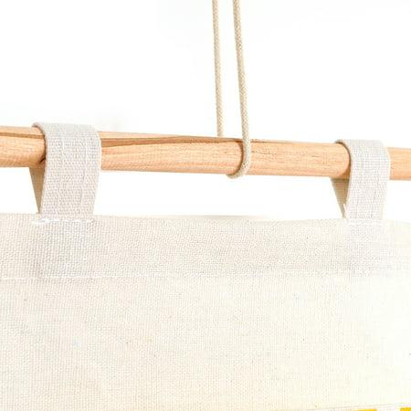 Wall Hanging Storage Bag 3 Layer Pockets Door Organizer Pouch Holder Wardrobe - image 3 of 9