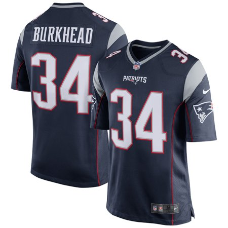 pick up 193ac f1cc1 Rex Burkhead New England Patriots Nike Game Jersey - Navy