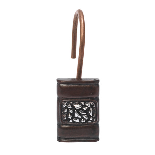 "Seneca"" Resin Shower Curtain Hooks in Oil Rubbed Bronze"