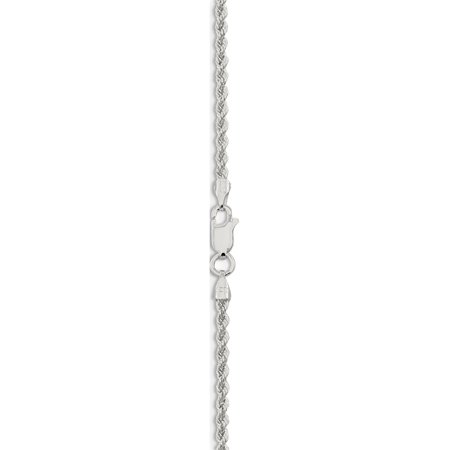 925 Sterling Silver 2.3mm Solid Rope Chain - image 1 of 5