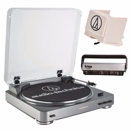 - Audio-Technica Fully Automatic Turntable + Replacement Stylus + Knox Vinyl Cleaning Brush