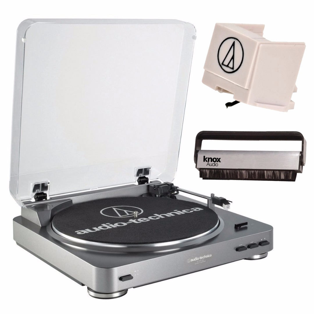 Audio-Technica Fully Automatic Turntable + Replacement Stylus + Knox Vinyl Cleaning Brush