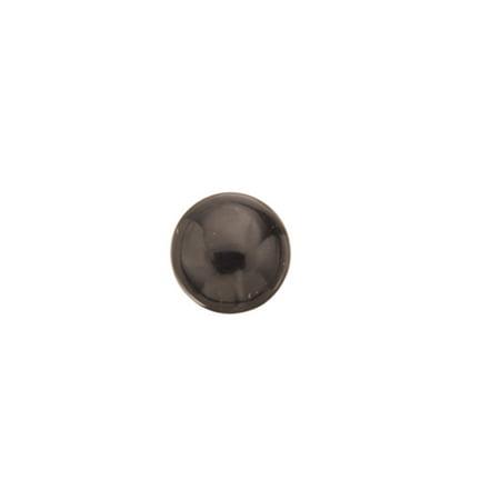 Black Obsidian Natural Simi Precious Stone cabochons 8mm Round flat back Gemstone 7cnt.