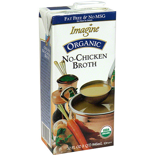 Imagine Foods Organic No-Chicken Broth, 32 oz (Pack of 12)