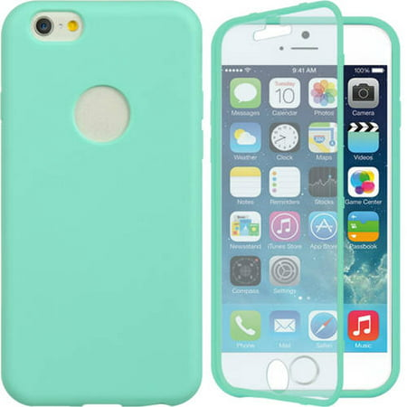 Mundaze Apple iPhone 6 Wrap-Up Case with Screen Protector Phone Case, Teal Mint (iphone 6 mint rose case)