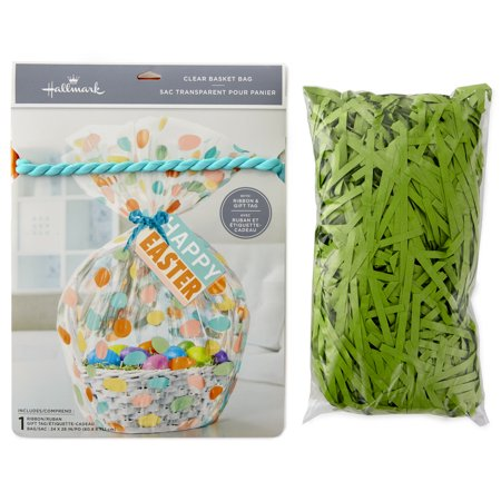 Hallmark Easter Basket Bag with Artificial Grass Fill (Happy Easter) - Easter Bag