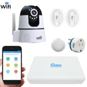 Coolcam Total Wireless Home and Business Security System with 8CH DVR(500GB), 1 Wifi cameras, Entry sensors, PIR sensor, and Power plug, App Control by Smartphon4