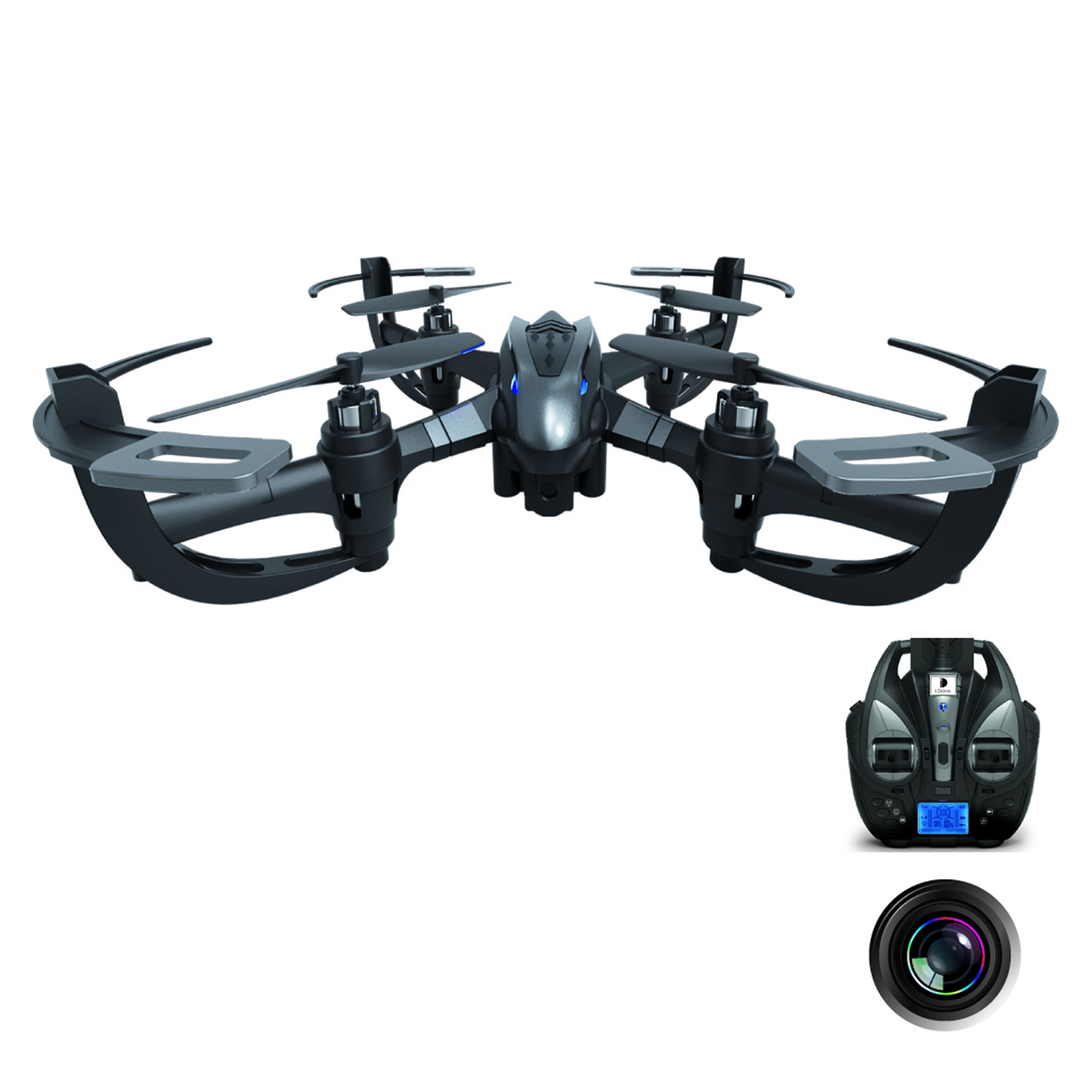 Force Flyers - 6 Inch Action Drone with Camera and One Key Return