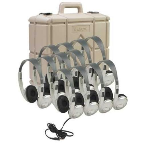 Ergoguys 3060AVS12 Califone 12 Pk Stereo Headphones W/Case