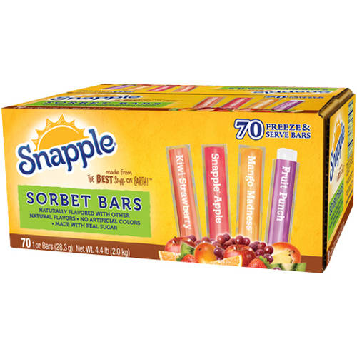 Snapple Sorbet Freeze & Serve Bars, 1 oz, 70 ct