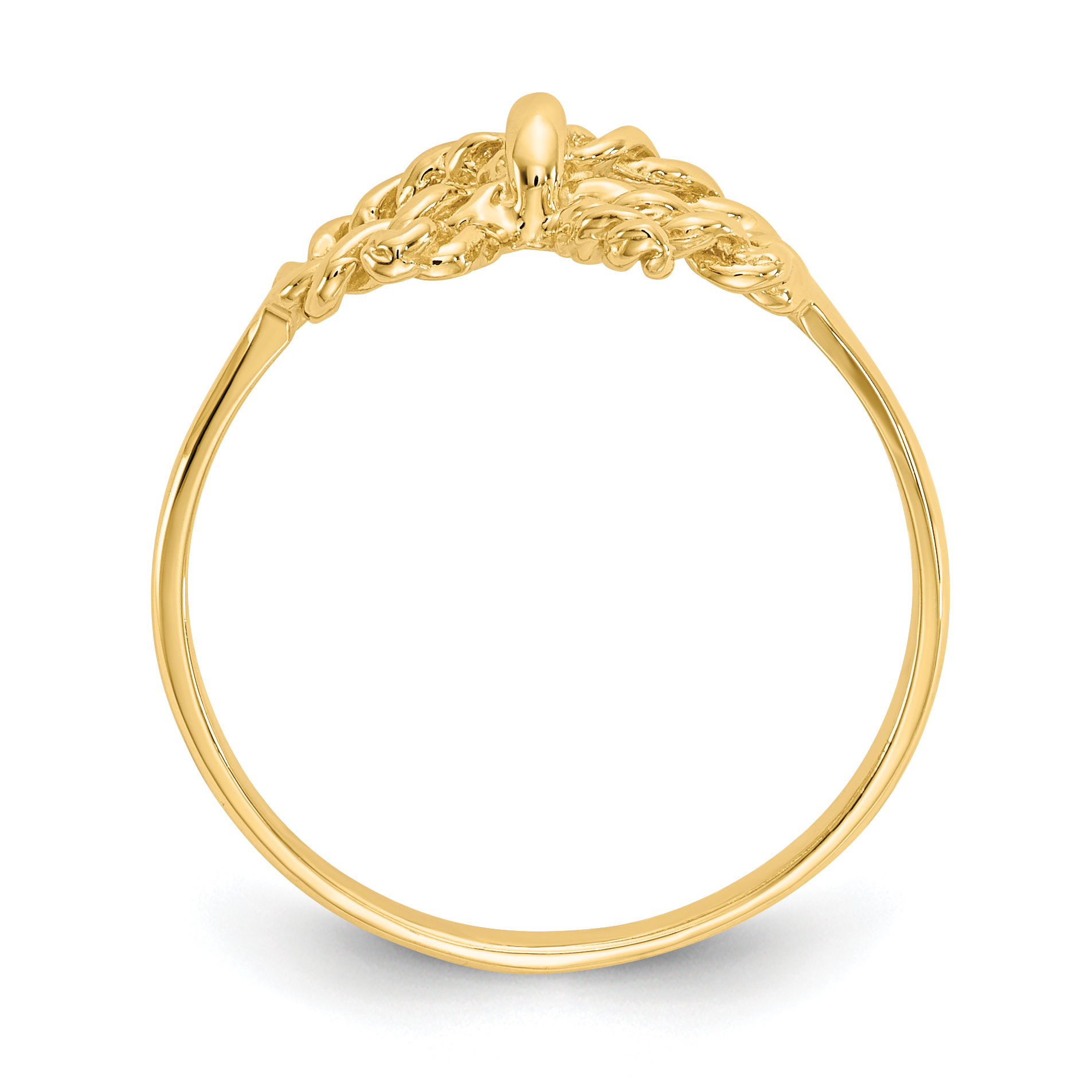 14k Yellow Gold Bow Band Ring Size 6.00 Fine Jewelry Gifts For Women For Her - image 1 of 5