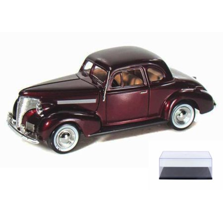 Diecast Car Display Case Package 1939 Chevy Coupe Burgundy