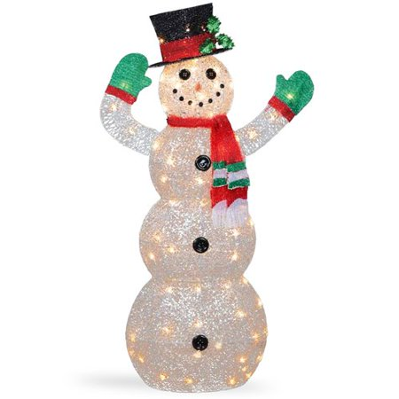 the holiday aisle crystal snowman christmas indooroutdoor decoration