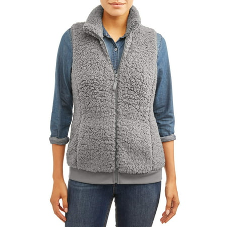 Time And Tru Women's Plush Vest by Time And Tru