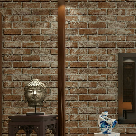 Full Wall Wallpaper Mural - Modern 3D Brick Stone Style Wallpaper Bedroom Living Mural Roll Wall Background,Yellow