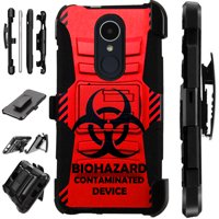 LuxGuard Phone Case Cover For LG Stylo 4 | Stylo 4 Plus | Q Stylus Q Plus Q Alpha (Red Biohazard)
