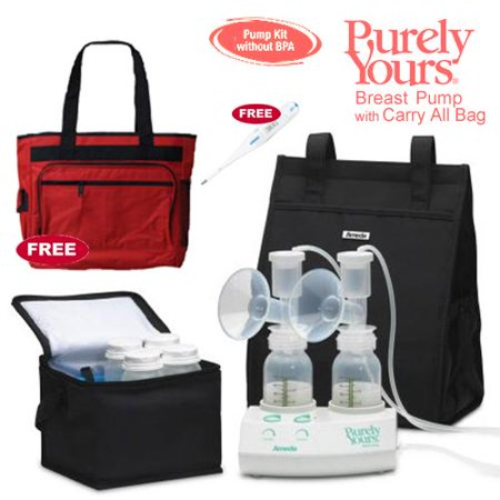 Image of Ameda 17077KIT1 Purely Yours Breast Pump Combo 1 with Carry All Bag Free Omro