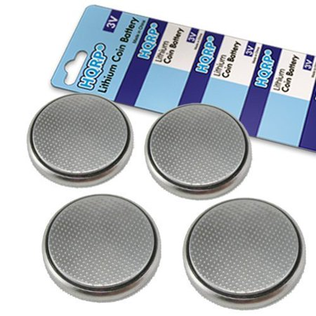 HQRP 4-Pack Coin Lithium Battery for LifeTrak Brite R450, Zone 410, Core C200 Smart Health Life Trak Fitness and Sleep Monitor Tracker + HQRP Coaster
