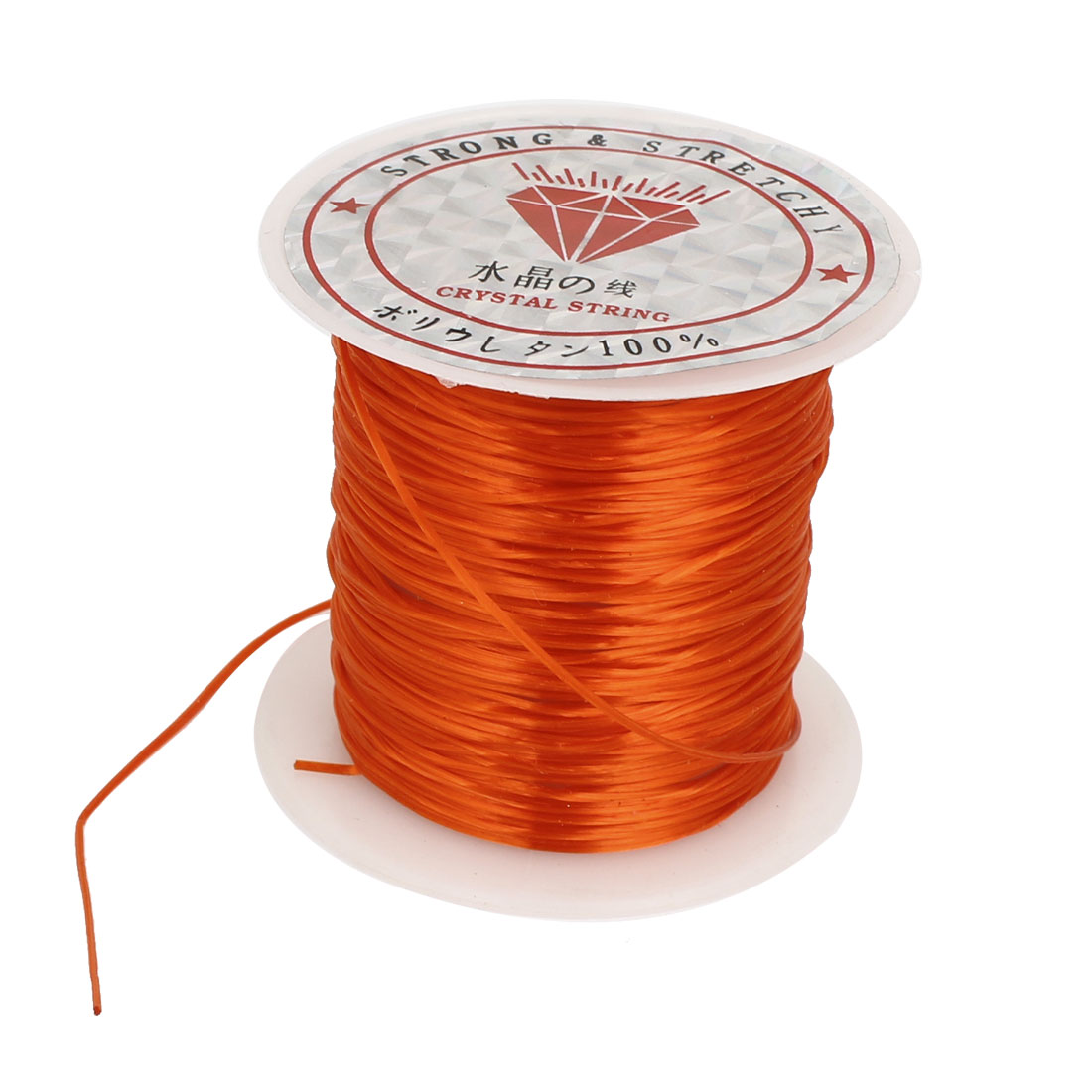1mm Burnt Orange Elastic Stretch Beading String Thread Cord Wire for Jewelry Making