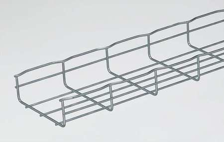 PACKCF54//100EZ CABLOFIL Steel Wire Cable Tray,Width 4 In,L 6.5 Ft,PK4