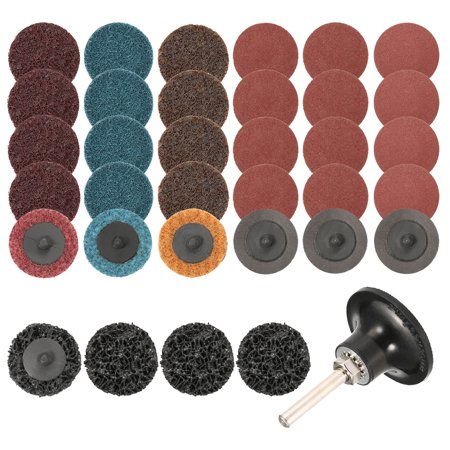 Rust Removal Paint - 35Pcs Sanding Discs Set 2 inch Quick Change Discs Surface Conditioning Discs with 1/4 inch Tray Holder for Surface Prep Strip Grind Polish Finish Burr Rust Paint Removal by INSMA