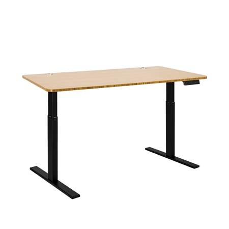 Autonomous SmartDesk - Height-Adjustable Standing Desk - Single Motor - Black Frame - Bamboo Classic Top