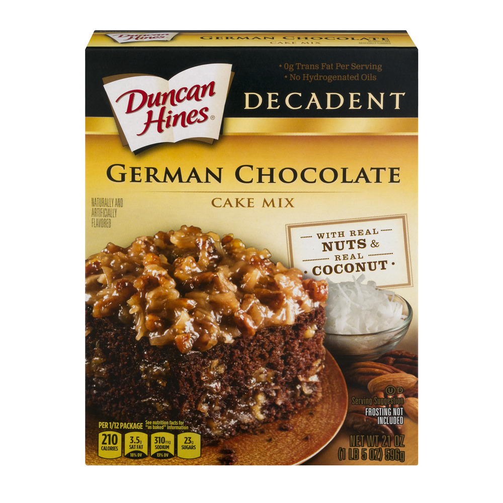 german chocolate cake mix duncan hines decadent cake mix german chocolate 21 0 oz 4484