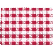 Red Gingham Placemats, 50pk