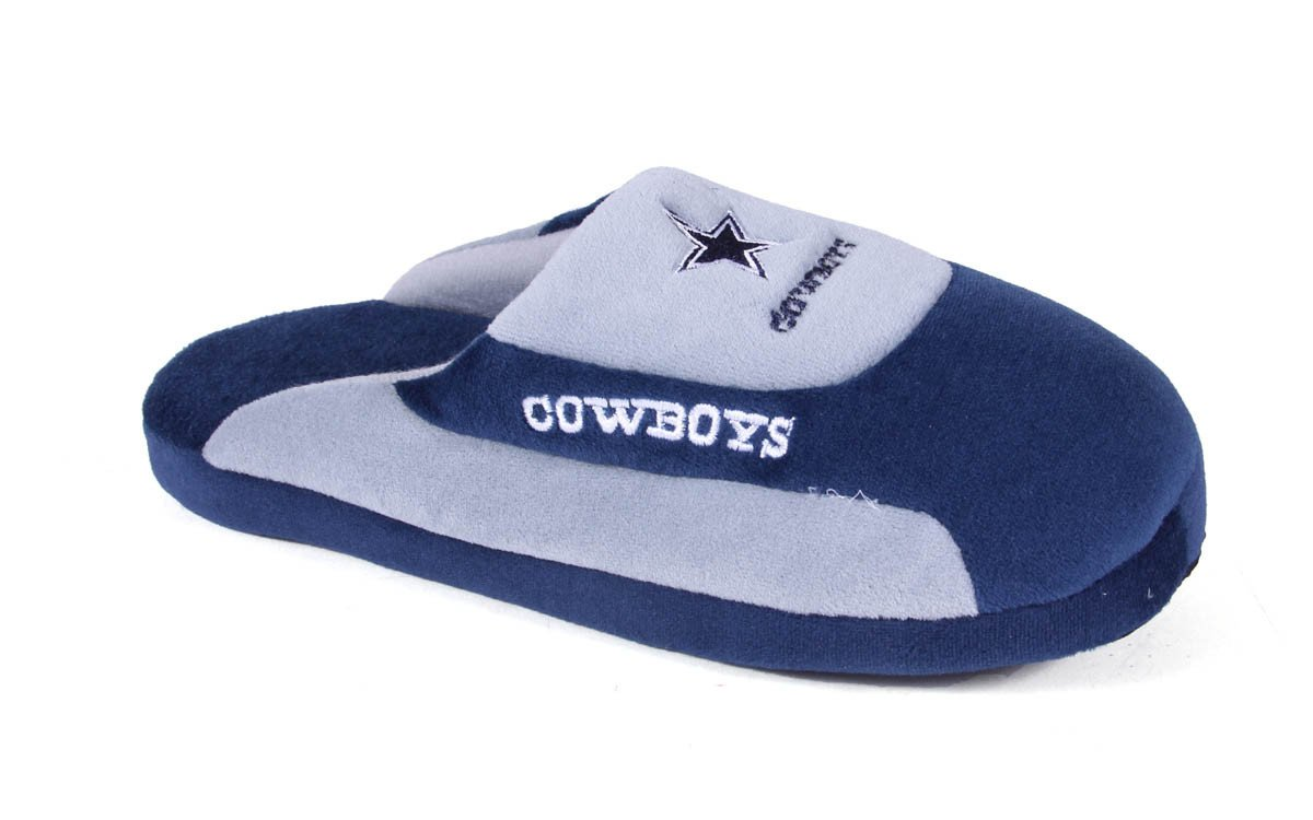 Happy Feet Mens and Womens Dallas Cowboys Low Pro Slippers XL by Happy Feet