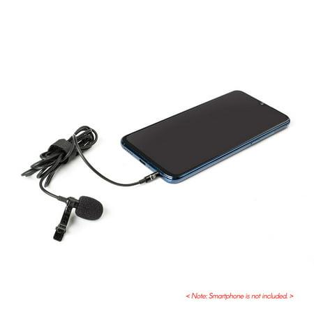 Lavalier Lapel Microphone à pince portable Mic Prise audio 3,5 mm Longueur, 1,5 m Microphone omnidirectionnel à réduction de bruit pour caméra Smartphone - image 6 de 7