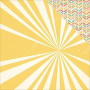 "Summertime Double-Sided Cardstock 12""X12""-Sunshine"