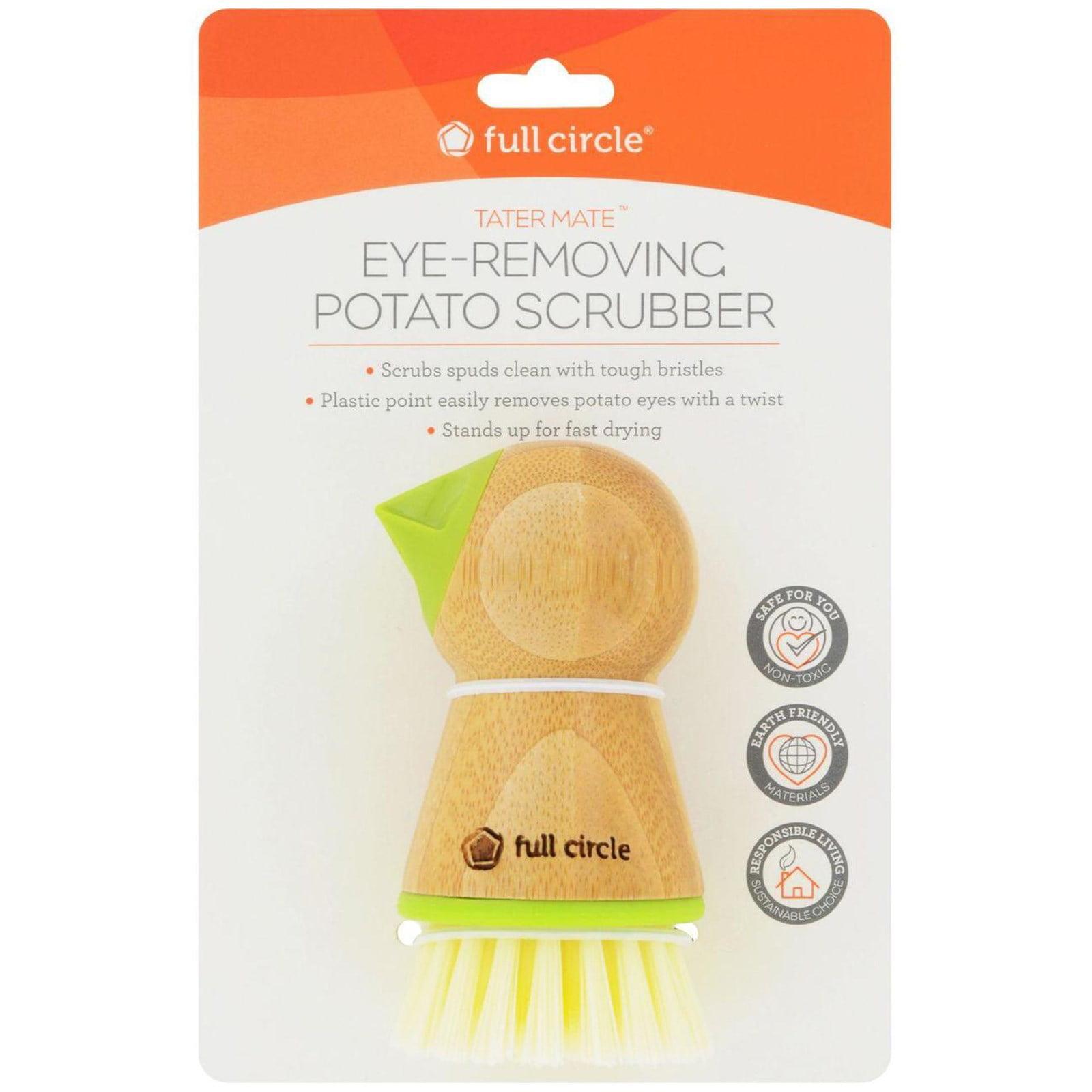 Full Circle, Tater Mate, Eye-Removing Potato Scrubber, 1 Brush(pack of 2)
