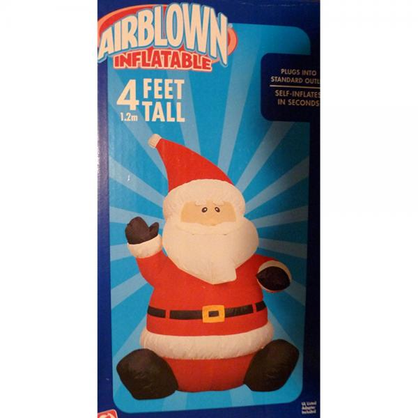 Gemmy 4 Foot Airblown Inflatable Santa Claus
