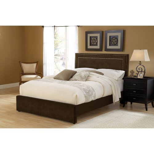 Hillsdale Amber Upholstered Low Profile Bed - Chocolate