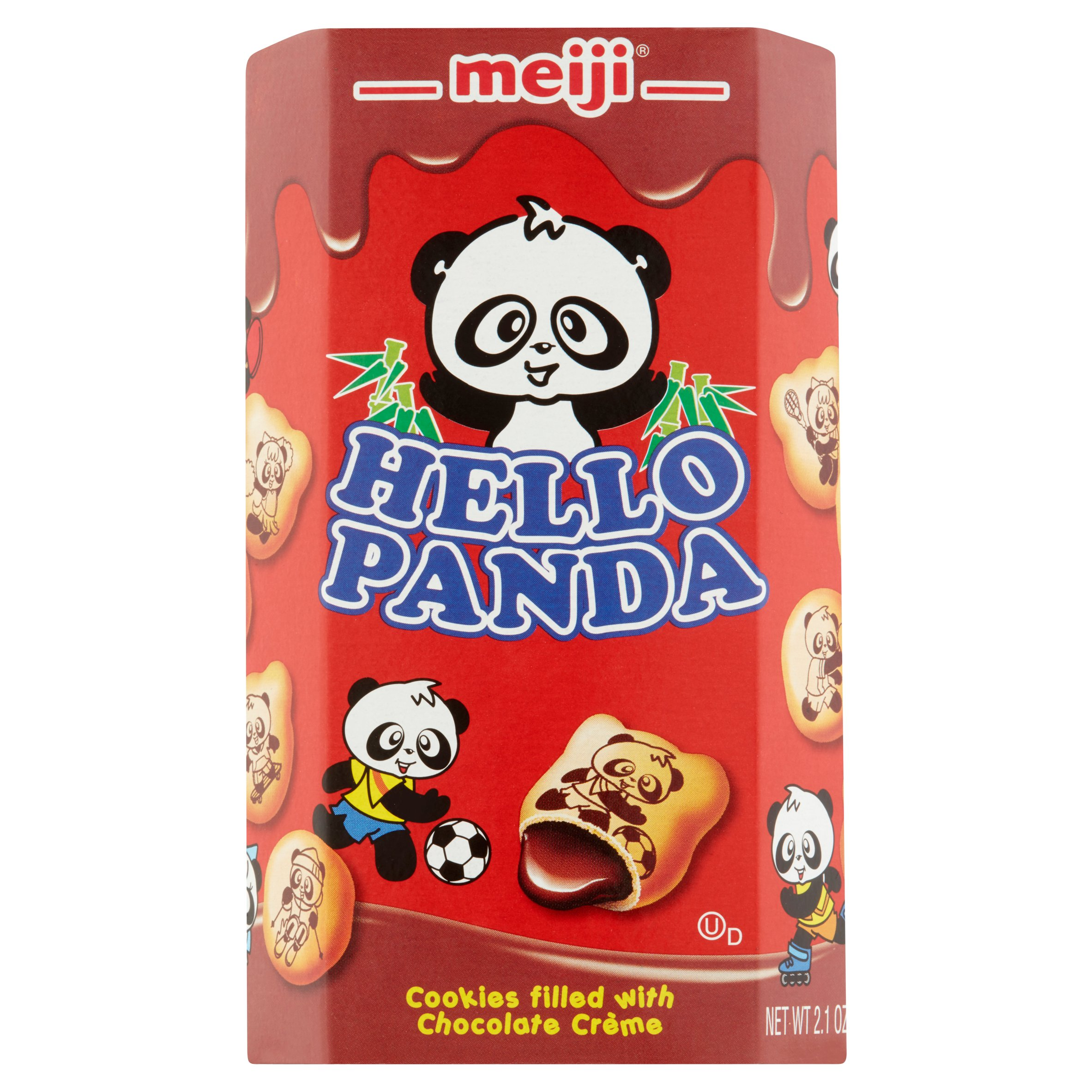 Meiji Hello Panda Cookies, Chocolate Crème, 2.1 Oz