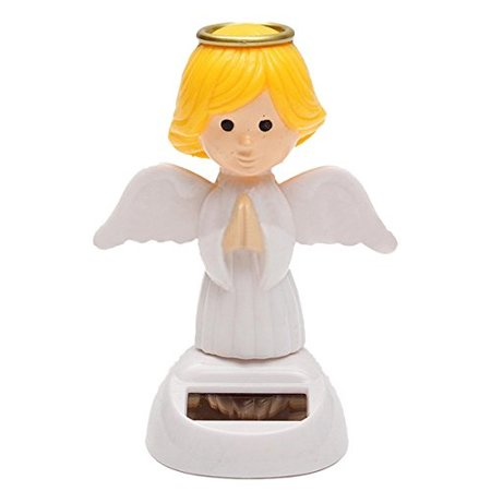 Solar Powered Bobble Head Moving Wings Dancing Angel](Solar Dancing Figures)