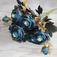 Blue artificial flowers walmart enjoy 9pcsset fake camellia artificial silk flores artificiales bouquets party artificial flowers for home mightylinksfo Images