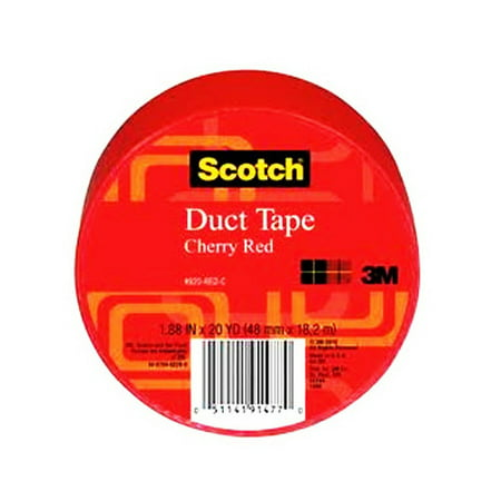 3M Scotch Duct Tape for Artists, Red, 1.88