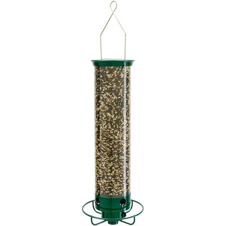 Droll Yankees Garden Pole - Droll Yankees Flipper Squirrel-Proof Green Bird Feeder