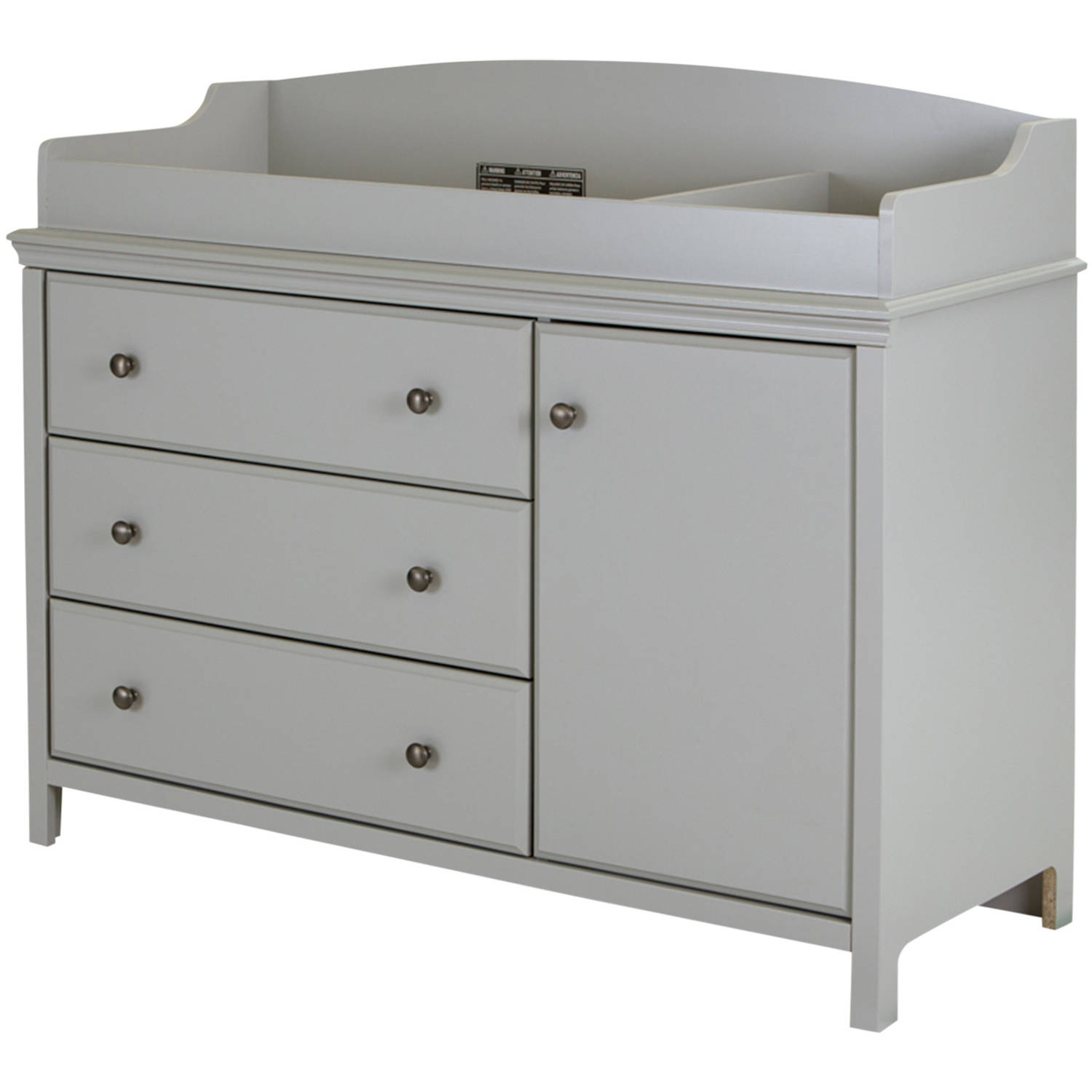 south shore cotton candy changing table with removable top multiple finishes walmartcom
