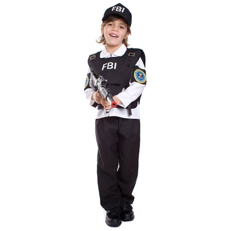 Dress Up America  Kid's 4-piece FBI Agent Costume](Fbi Costume)