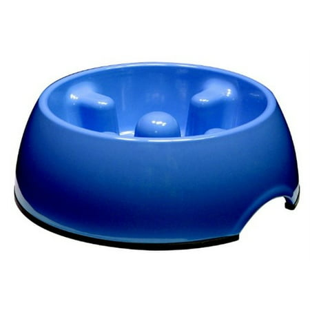 Dogit Go Slow Anti-Gulping Bowl, Blue Sm
