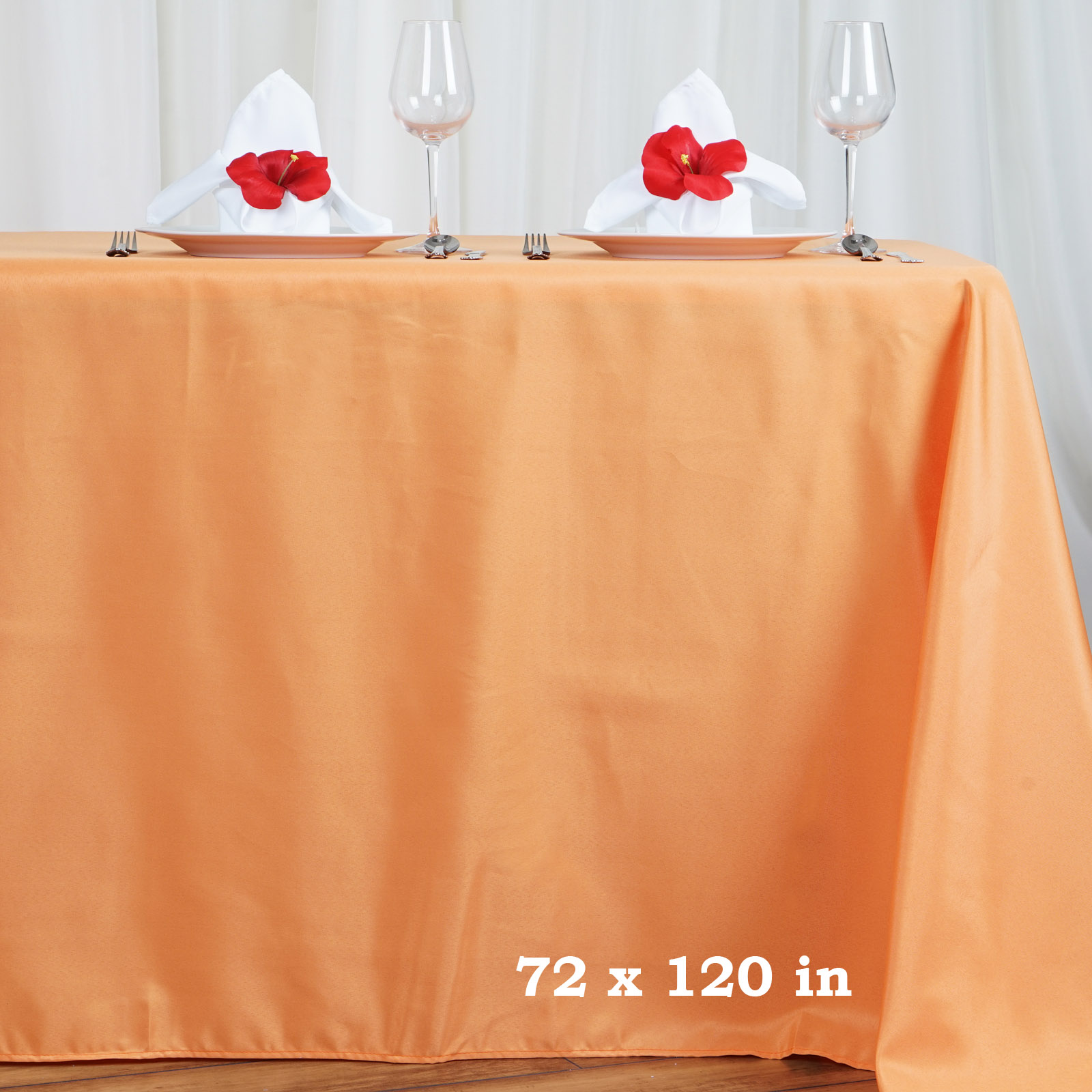 """Efavormart 72x120"""" Polyester Rectangle Tablecloths for Kitchen Dining Catering Wedding Birthday Party Decorations Events"""