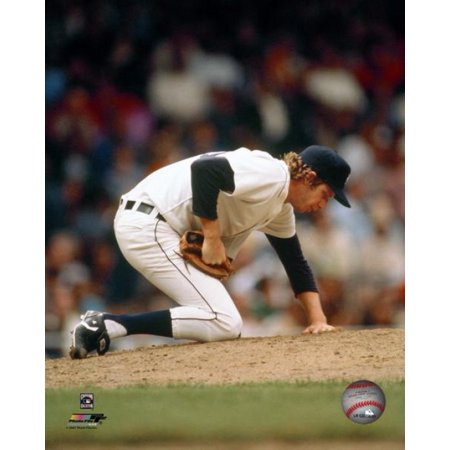 (Mark Fidrych checking the mound before pitching Photo Print)