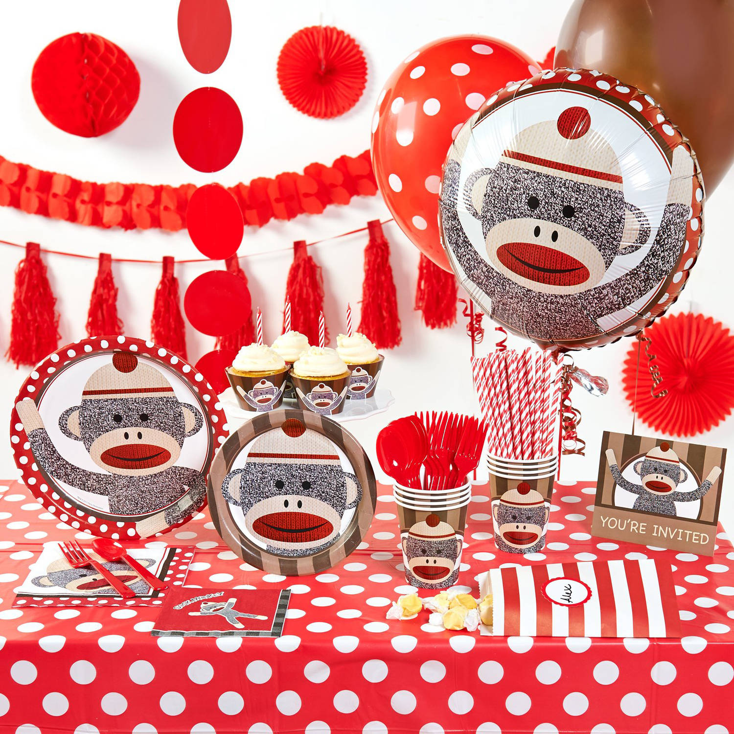 Sock Monkey Red Theme