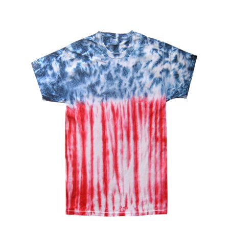 Tie Dye T-shirts Patriotic Colors, Men Adult S to 5XL 100% Cotton 5.3 Oz](Mets Colors)