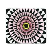 OTM Prints Black Mouse Pad, Sun Print Rose