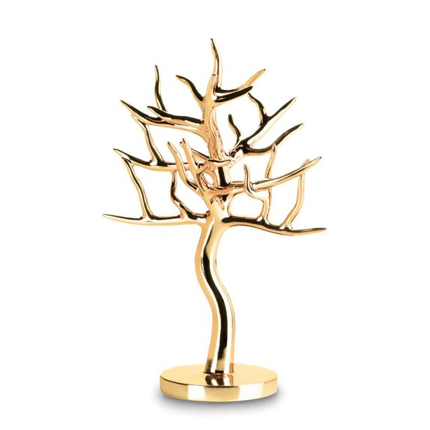 Jewelry Holder Gold Stand Girls Hanging Necklace Earrings Tree Jewelry Display Sold By Case Pack Of 4 Walmart Com Walmart Com