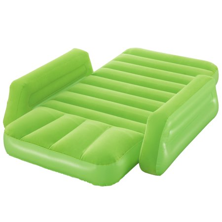 Bestway - Bestway Lil' Traveler Airbed, Green Bestway - Bestway Lil' Traveler Airbed, Green - The Lil Traveler Airbed is the right size for kids and is great at home or on the go. The soft sleeping surface and armrests on each side provides a secure and comfortable resting area. The bed is designed with sturdy I-beam construction and is available in a variety of colors. The interlocking quick release valve allows for easy deflation of the airbed. When you are done with the bed and ready to store it away, the connected carry bag makes for easy packing and transport. Your little ones will love their Lil Traveler Airbed! Weight capacity - 198 pounds.